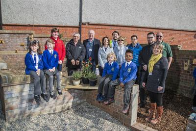 Our lady's pupils in the new outdoor learning