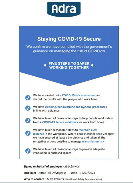 Being safe during Covid